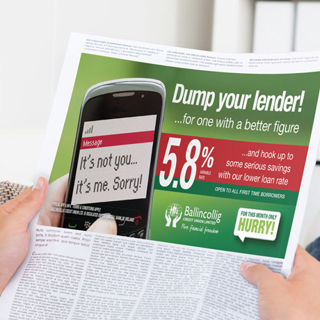 Forza Ballingcollig Credit Union News paper advert