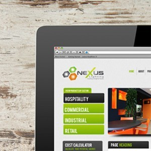 Forza! web and graphic design agency Cork created a tablet friendly website for Nexus