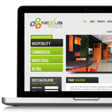 Forza! web and graphic design agency Cork created a responsive website for Nexus