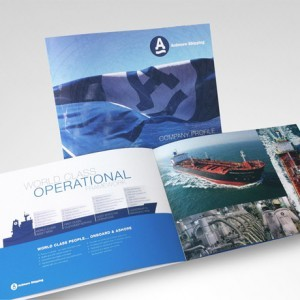 Company profile designed by Forza Cork for Ardmore Shipping