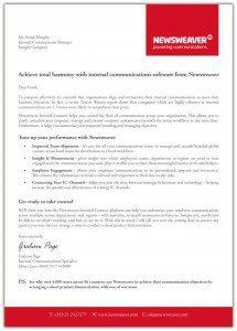 Newsweaver DM Letter
