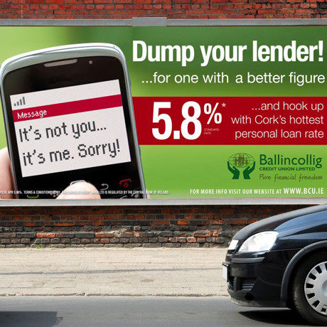Forza! design agency Cork provided Ballingcollig Credit Union with a branding and advertising campaign
