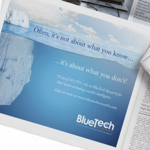 Cork design agency Foza! provided BlueTech Advertising Design