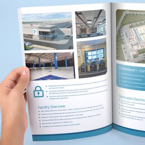 Brochure design by creative marketing agency Cork