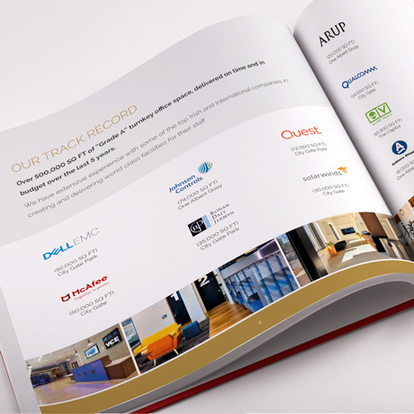 Forza! brochure design agency in Cork did a brochure concept and design for JCD turnkey solutions booklet